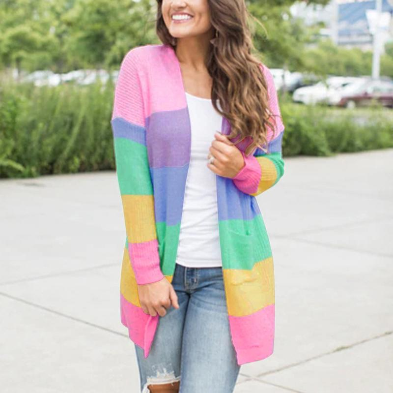 Colorful Splicing Cardigan