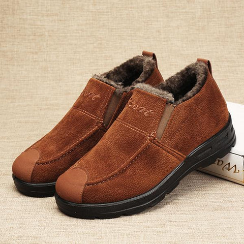 Warm Lining Slip On Casual Indoor Shoes