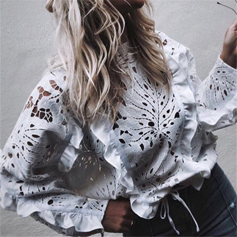 Autumn And Winter Fashion Sexy Lace Blouse