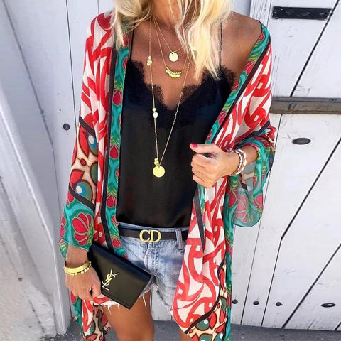 Fashion Solid Color V-Neck Sling Lined Cardigan