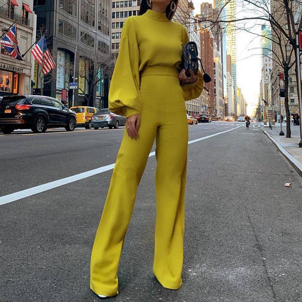 Fashion Pure Colour Half Collar Jumpsuits
