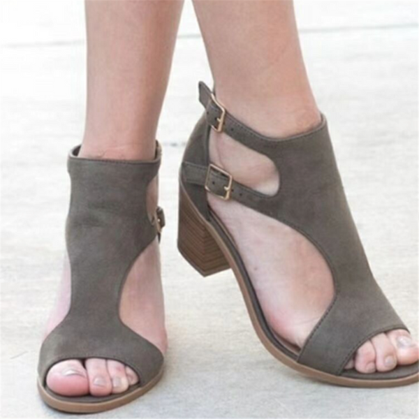 Women's Double Buckle Chunky Sandals