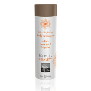 SHIATSU Edible Body Oil - Green Tea & Tangerine