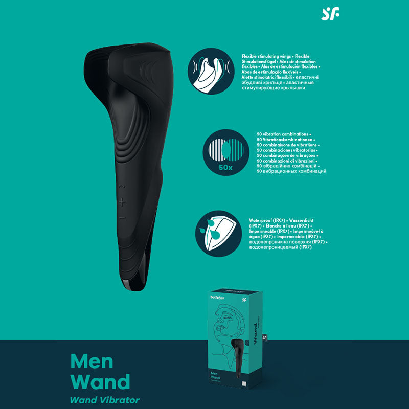 Satisfyer Men Wand | Adult Products | Adult Toys | Sex Toys | Buy Best Sex Toys for Men & Women Online 2020 | Latest Adult & Sex Toys Online 2020 | SATISFYER SALE | Cheap Sex Toys Online | Naughty Alice