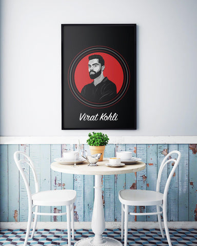 Virat Kohli Poster - Indian Cricket Player Sticker By Rupchik - Wallposts