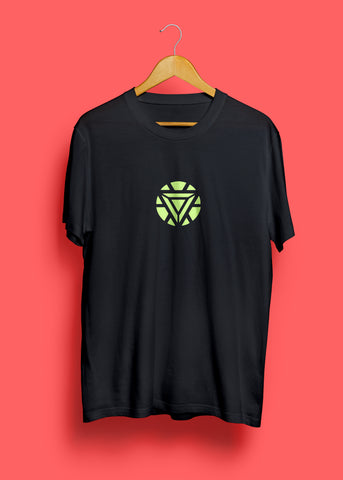 Glowing Iron Man Arc Reactor T-Shirt by Mustache by Mustache RUPCHIK rupchik.myshopify.com
