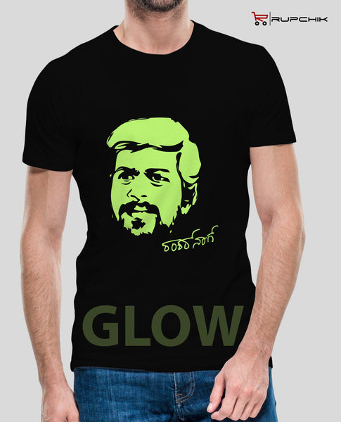 Always Smiling Shankranna Glowing T-Shirt by Rupchik by Rupchik RUPCHIK rupchik.myshopify.com