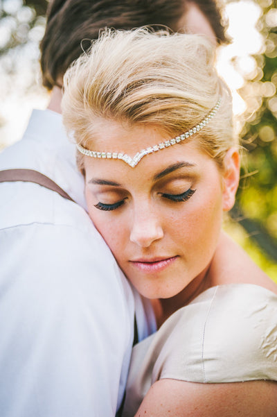 Danani | Draped V Headpiece - Style #224 | Nhiya Kaye Photography
