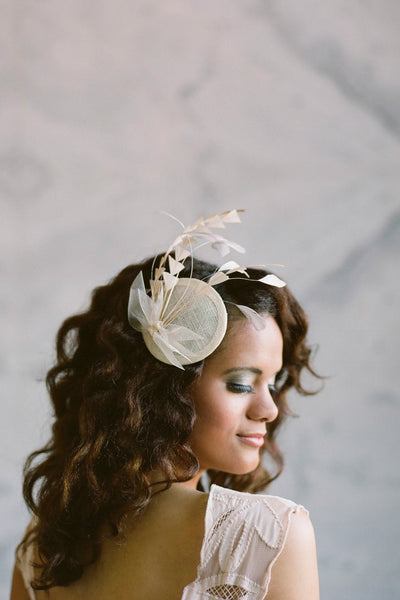 Feather Spray Bridal Hat - Style #403