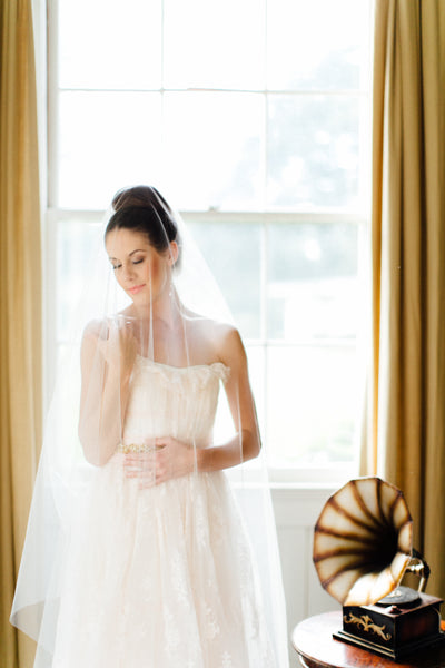 Danani | Drop Veil with Blusher - Style #301 | Carmen & Ingo Photography