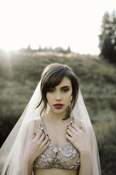 Danani | Drop Veil with Blusher - Style #301 | Haley Nord Photography
