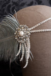 Danani | Crystal Flapper Headband in Gray & Silver - Style #103
