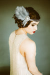 Crystal Flapper Headband in Ivory & Silver - Style #103
