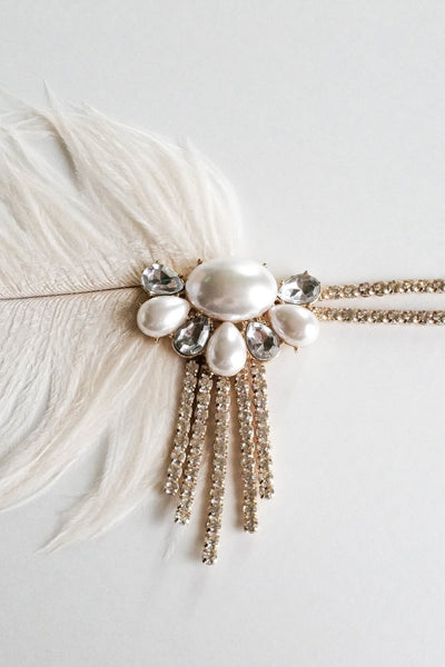 Danani | Gold and Pearl Flapper Headband - Style #110