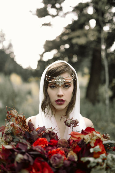 Danani | Silk Tulle Hooded Veil - Style #328 | Haley Nord Photography
