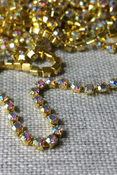 Danani | Draped Crystal Pins in Gold/AB - Style #211