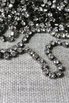 Danani | Draped Crystal Pins in Gunmetal/ Crystal - Style #211