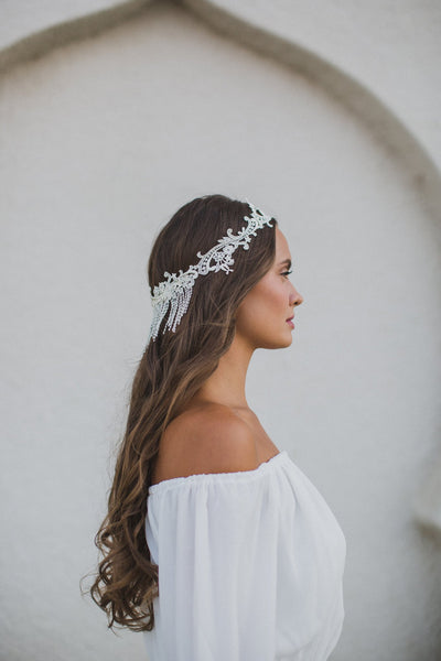 Danani | Lace Fringe Halo - Style #214 | Marci Nelson Photo