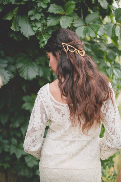 Danani | Chandelier Headpiece - Style #222 in Gold | Carrie Swails Photography