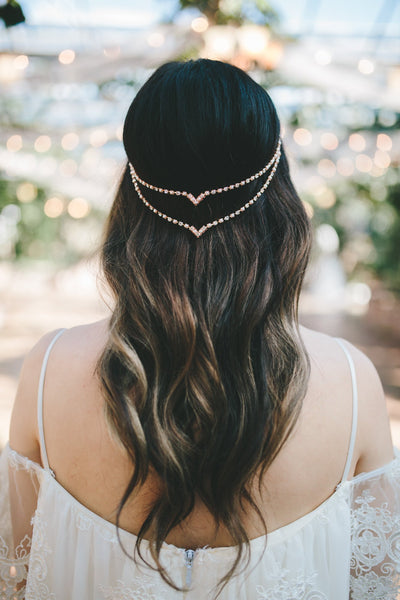 Danani | Halo Double V Headpiece - Style #223 | Jessica E Photography