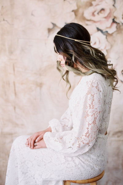 Danani | Halo Double V Headpiece - Style #223 | Loblee Photography