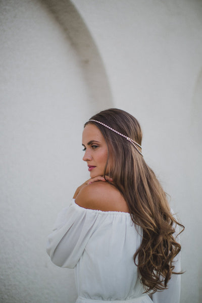 Danani | Halo Double V Headpiece - Style #223 | Marci Nelson Photo