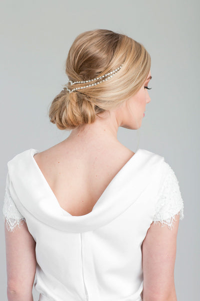 Danani | Double Draped V Headpiece - Style #225 | Loblee Photography