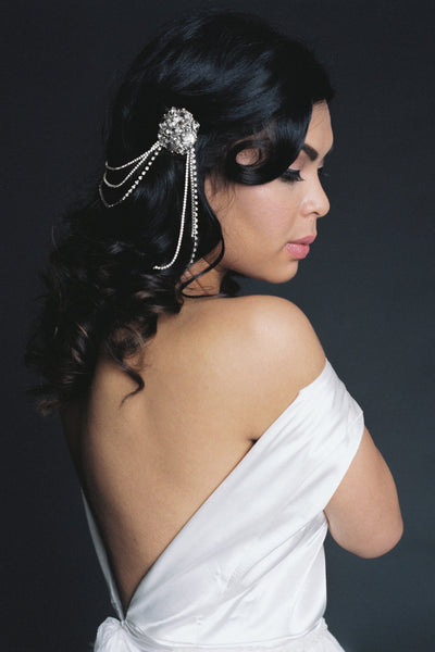Danani | Brooch Swag Headpiece - Style #227 | Loblee Photography