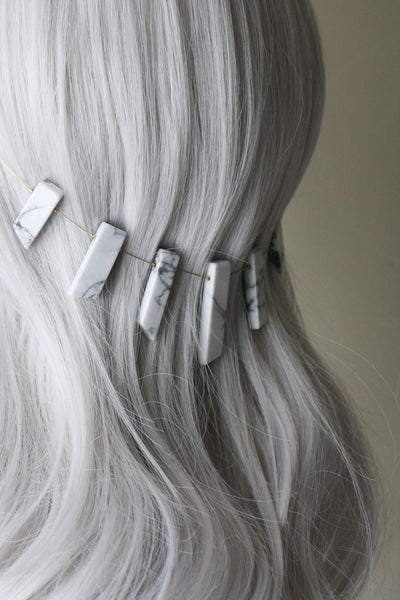 Danani | Gemstone Point Hair Swag - Style #234 | White Howlite