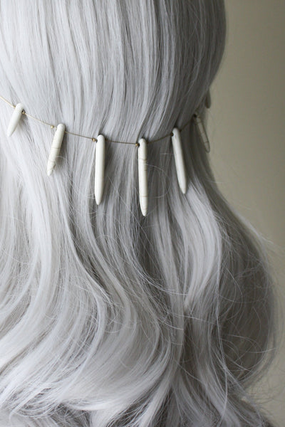 Danani | Gemstone Point Hair Swag - Style #234 | Cream Magnesite