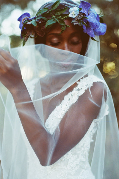 Danani | Sheer Juliet Veil - Style #304 | Loblee Photography