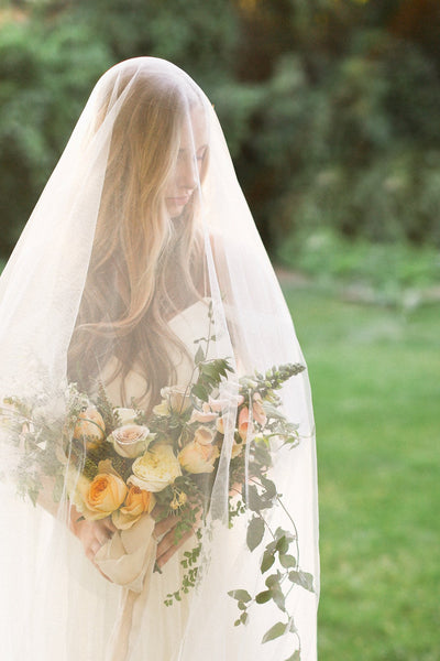 Danani | English Net Drop Veil with Blusher - Style #322 | Ivy & Stone Photography