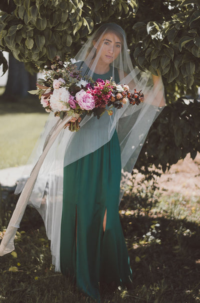Danani | English Net Drop Veil with Blusher - Style #322 | Chantel Marie Photography