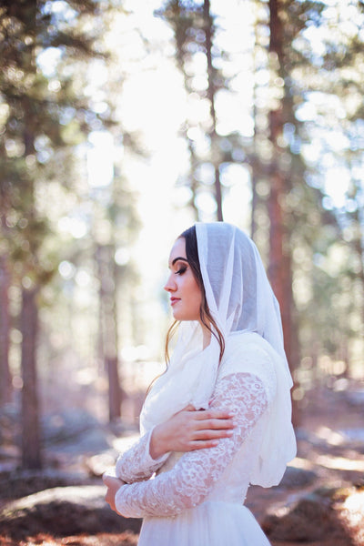 Danani | Silk Tulle Hooded Veil - Style #328 | Skye Amanda Photography