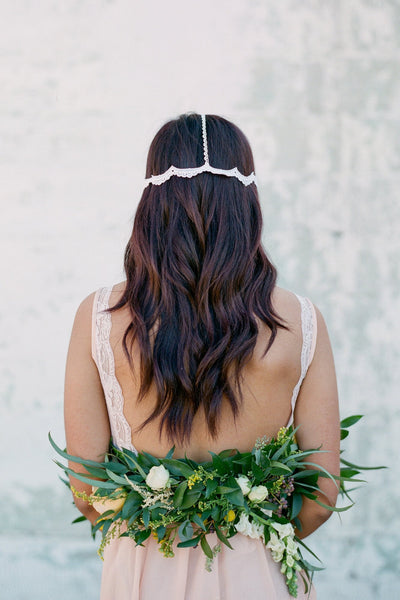 Danani | Lace Bohemian Headpiece - Style #433 | Loblee Photography