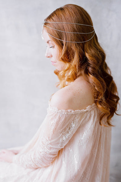 Danani | Gemstone Drop Filigree Bohemian Headpiece - Style #437 | Loblee Photography