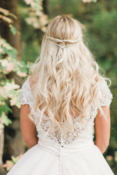 Danani | Draped V Headpiece - Style #224 | Megan Robinson Photography
