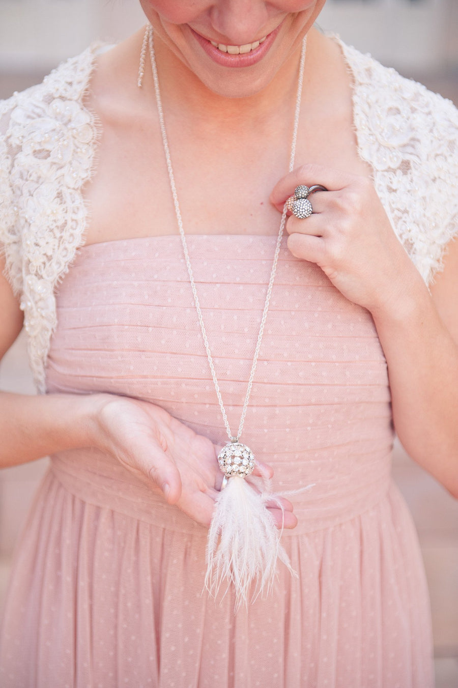 Danani | Ostrich Tassel Necklace - #212 in Ivory | Loblee Photography