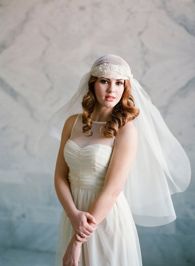 beaded juliet veil
