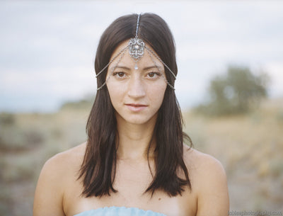 Bohemian Headpiece - Pewter - Style #426