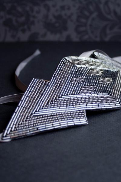Danani | Gatsby Art Deco Headpiece - Style #452 in Gunmetal