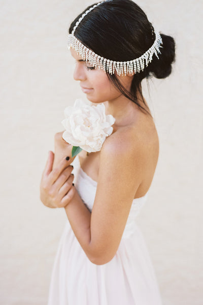 Gilded Bohemian Headpiece in Silver or Gold - Style #220