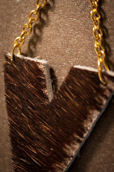 Archer Leather Earrings - Natural Cowhide