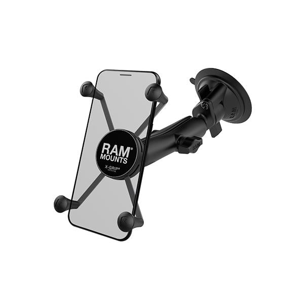 RAM® X-Grip® Large Phone Mount with RAM® Twist-Lock™ Suction Cup Base (RAM-B-166-C-UN10U)