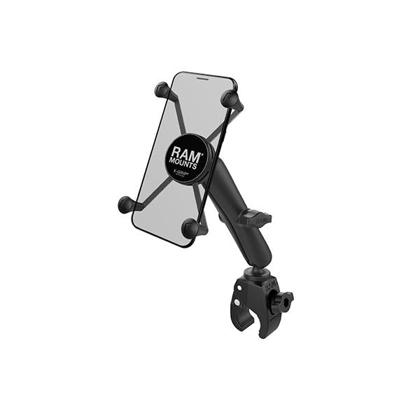 RAM® X-Grip® Large Phone Mount with RAM® Tough-Claw™ Small Clamp Base (RAM-B-400-C-UN10U)