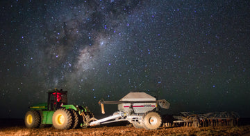 Tractor with Milky Way
