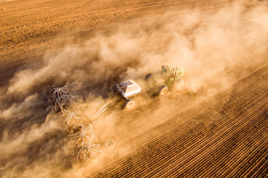 Drone photo of seeding