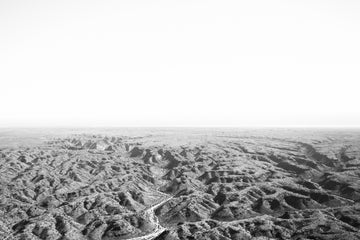 aerial black and white photo of Cape range national park
