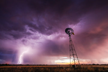 Thunderstorm and windmill