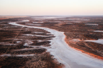 Aerial photo of salt lakes